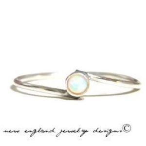 nejd Jewelry - 925 Sterling Silver Genuine Fire Opal Bypass Ring